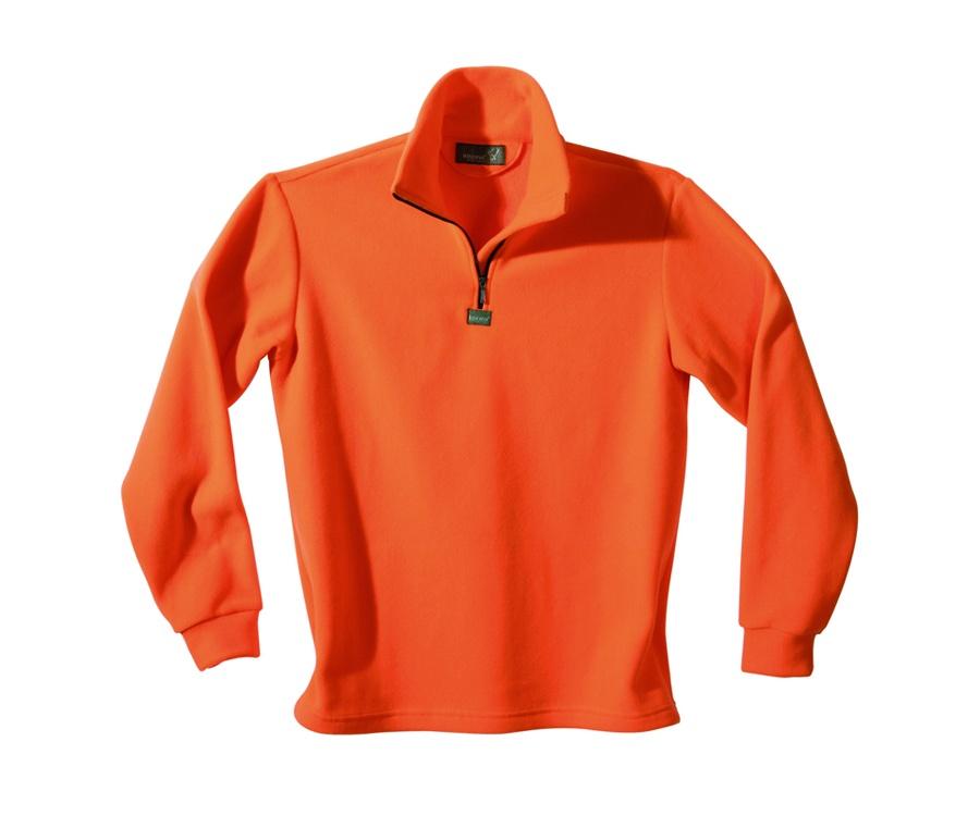 Microfleece turtleneck sweater