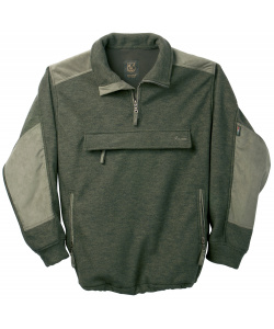 Windproof fleece and wool sweater