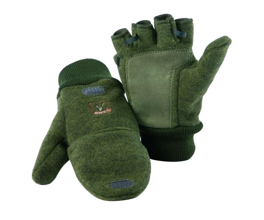 Mitten-gloves fleece and wool