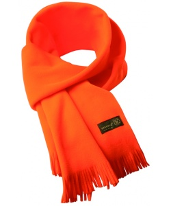 Windproof orange fleece scarf