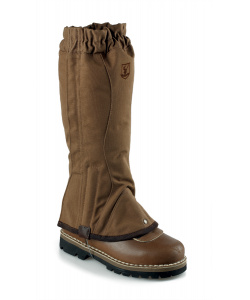 Brown cotton gaiters