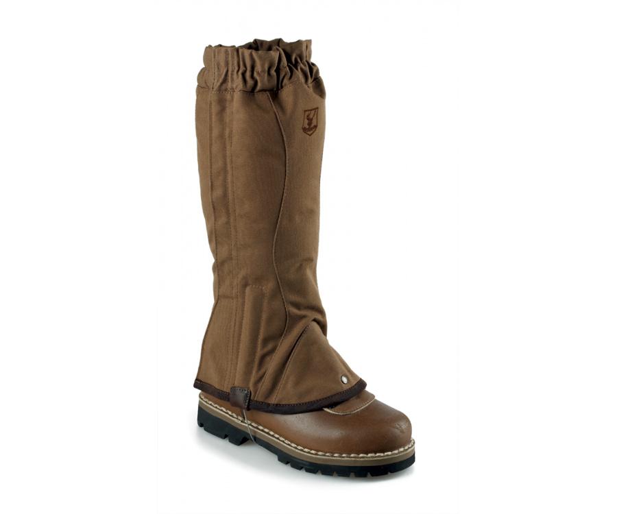 Brown cotton gaiters