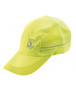 High visibility yellow cap with visor