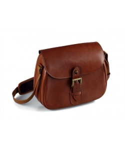 Leather cartridge bag cm. 27x7x19