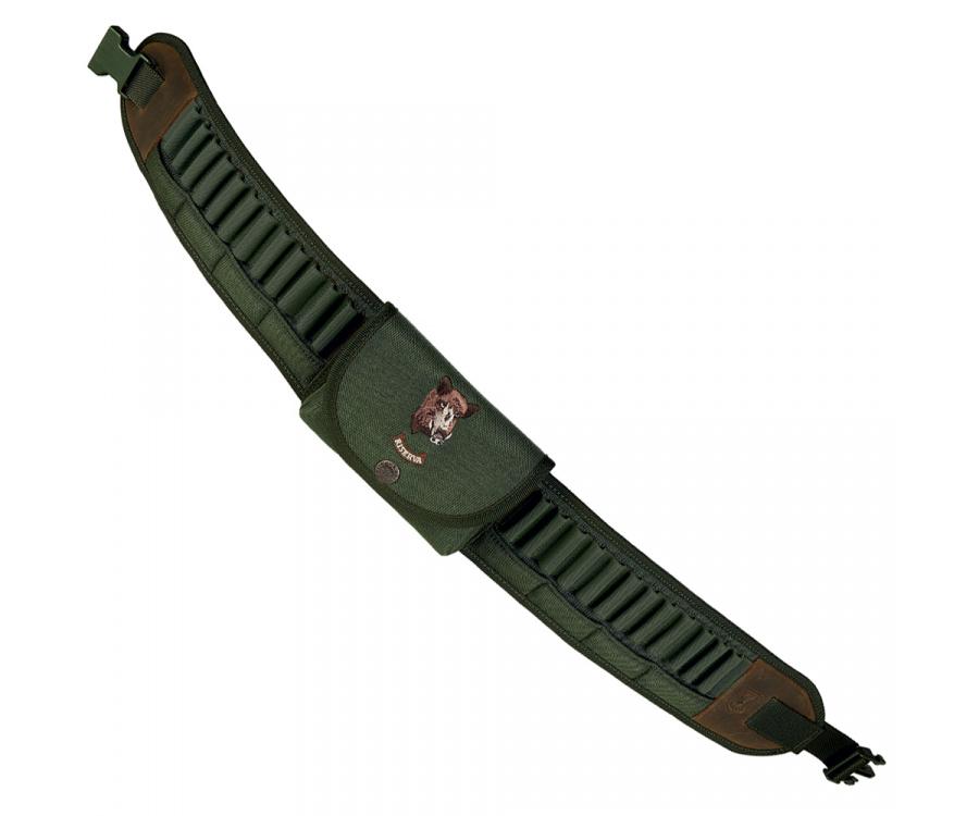 Cordura cartridge belt with pocket